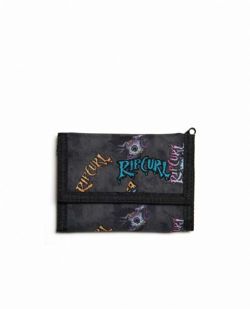 RIP CURL MENS WALLET.NEW MIXED SURF BLACK TRIFOLD MONEY NOTE CARD COIN PURSE 9W